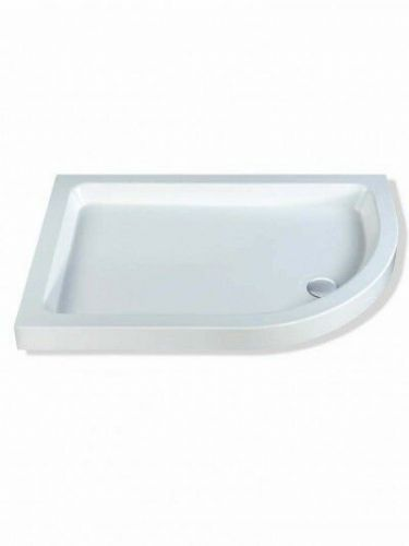 MX OFFSET QUAD SHOWER TRAY 1000 X 800 RIGHT HAND INCLUDING WASTE